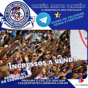 Ingressos à venda: Informações para Bahia x Ceará