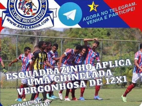 DOZE: Sub-17 goleia o Ypiranga e avança para semifinal do Estadual