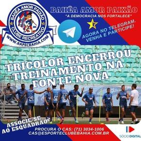 Treino na Fonte: Palco do clássico nordestino, Tricolor encerra preparação para partida desta quarta