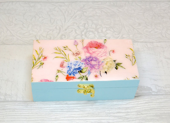 Pink and Sage Trinket Box