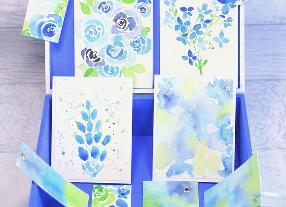 Blue Tile Stationery Box
