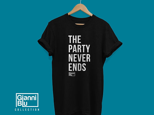 "Gianni Blu ""Party Never Ends"" T-Shirt"