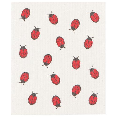 Ladybug Swedish Dishcloth