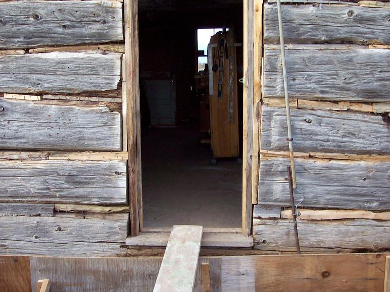 Log Cabin Entrance Before