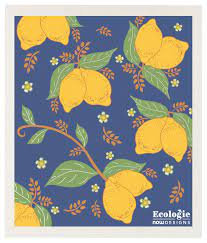 Provençal Lemons Swedish Dishcloth