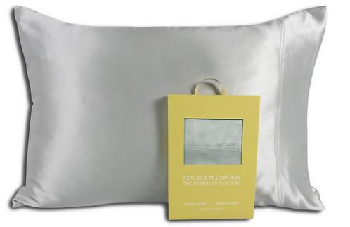Silver Silk Pillowcase