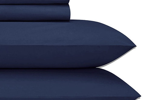 Navy Cotton Sheets