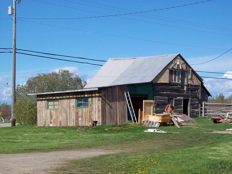 The Barn in Progress