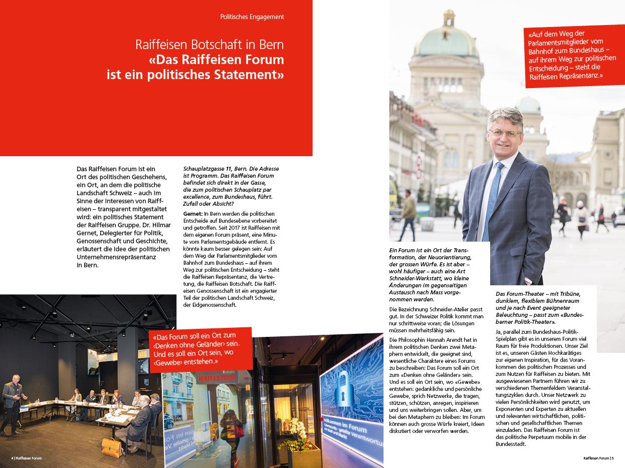 Broschüre Raiffeisen Forum