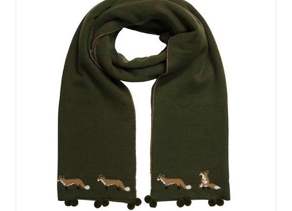 Foxes Knitted Scarf