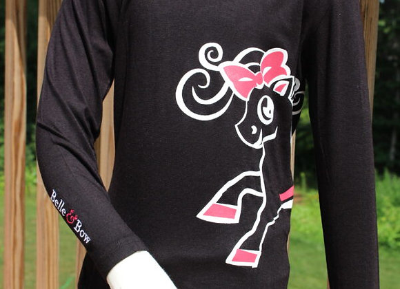 Black Logo Long Sleeve T