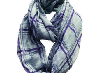 Bridles Checked Infinity Scarf