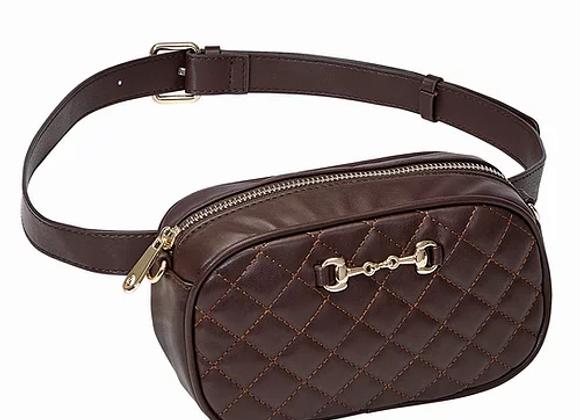 Brown Snaffle Bit Waist/Crossbody Bag