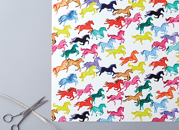Rainbow ponies Wrapping Paper