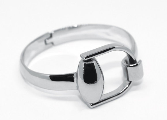 SNAFFLE BIT BANGLE - SILVER
