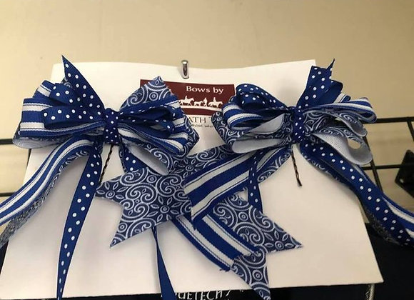 Blue for you Show Bows