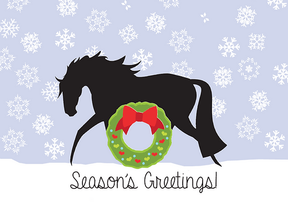 HORSE WITH HEART AND WREATH