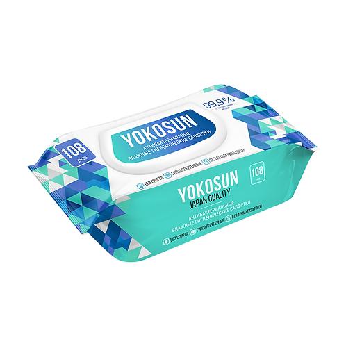 Влажные гигиенические салфетки YokoSun, 108 шт.