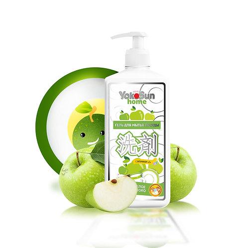 Гель для мытья посуды YokoSun, 1л, яблоко
