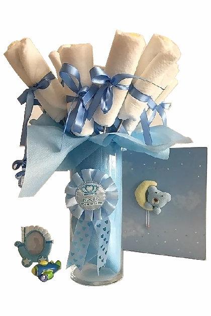 Bebek Bezi Buketi Küçük Mavi