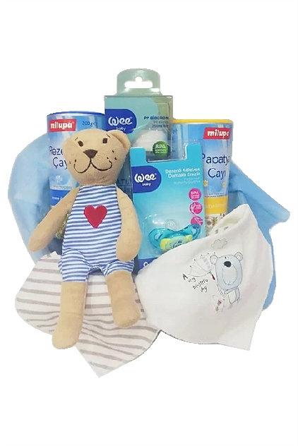 Milupa Bebeğimin Çayları Bebek Hediye Sepeti Mavi Wee Baby