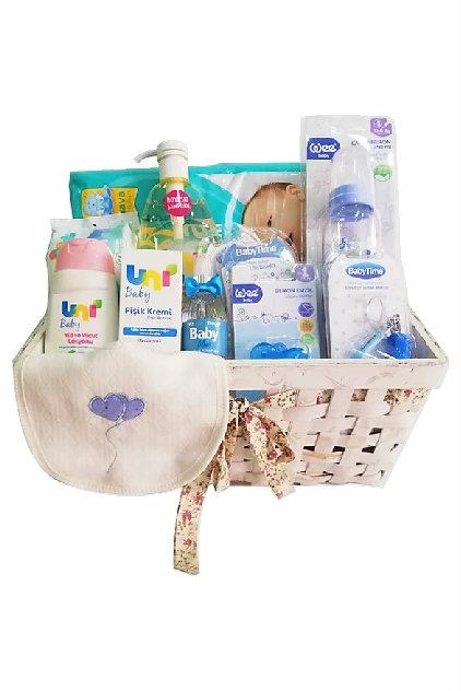 Yenidoğan Bebek Hediye Sepeti Erkek Uni Baby