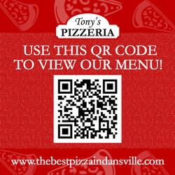 Tonys Pizzeria Dansville July 2 QR Menu Instagram