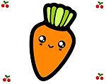 cenoura-sorridente-comida-verduras-pinta
