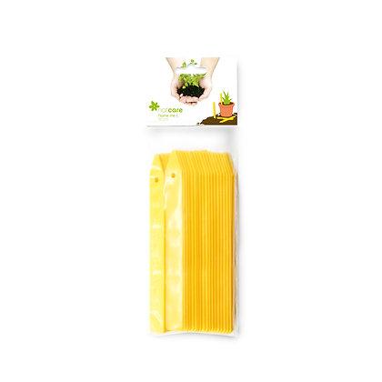 NAME ME L - Etiquetas de plástico amarillas