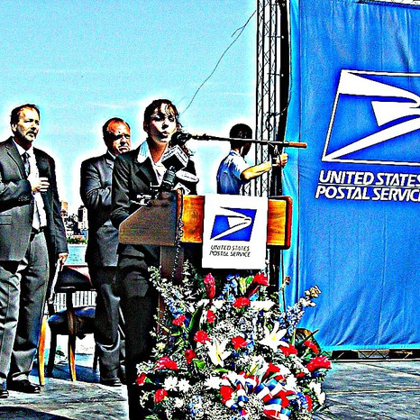 National Anthem - Frank Sinatra Stamp