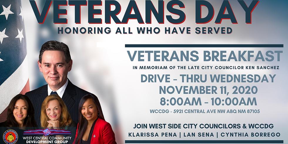 Veterans Day Drive-Thru Breakfast