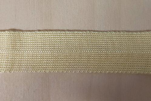 Zacht gebreid lint geel (25mm breed)