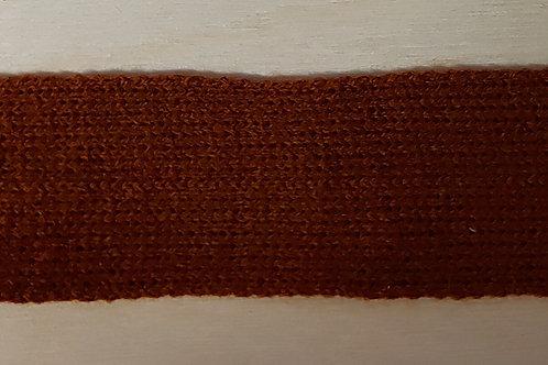 Zacht gebreid lint roest (30mm breed)