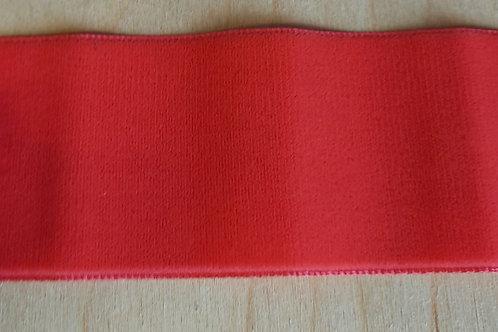Koraalrood velours lint (50mm breed)