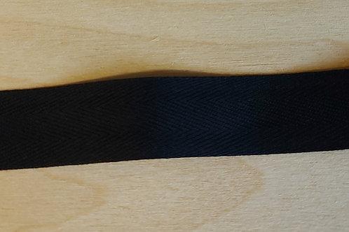 Zwart lint (20mm breed)