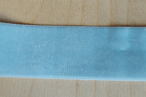 Lichtblauw velours lint (36mm breed)