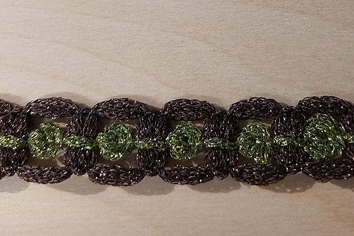 Bruin-groen lint (18mm breed)