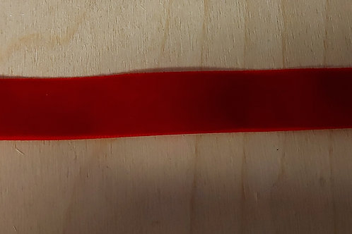Rood velours lint (16mm breed)