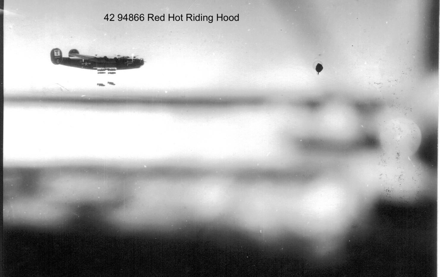 B-24 Red Hot Flying Hood