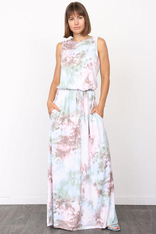 Pastel TieDye Maxi Dress