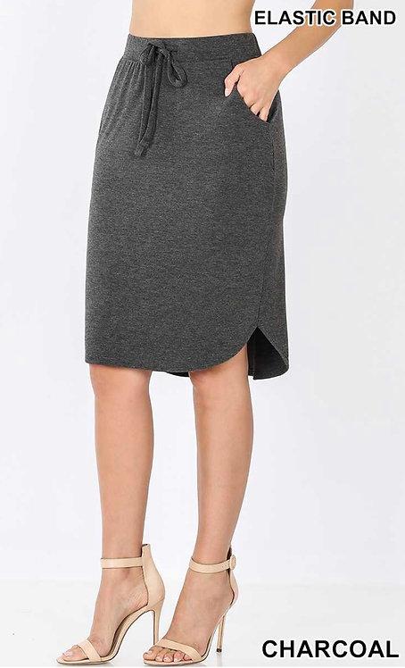 Heathered Charcoal Skirt