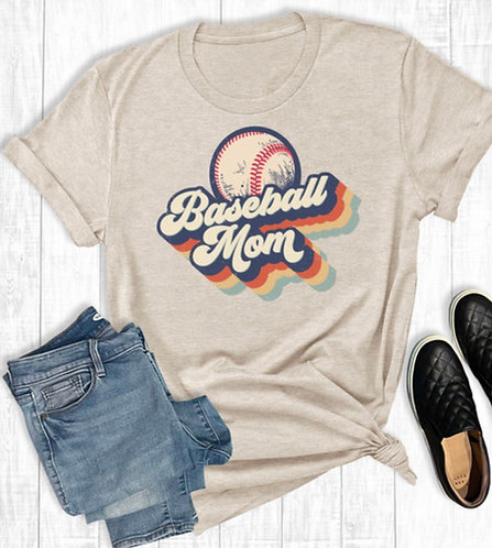 Baseball Mom Graphic Tee