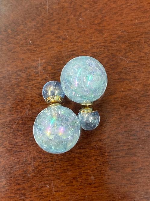 Blue Globe Earings