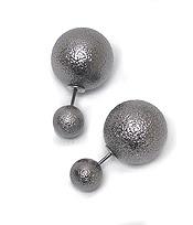 Silver Double Stud Earrings