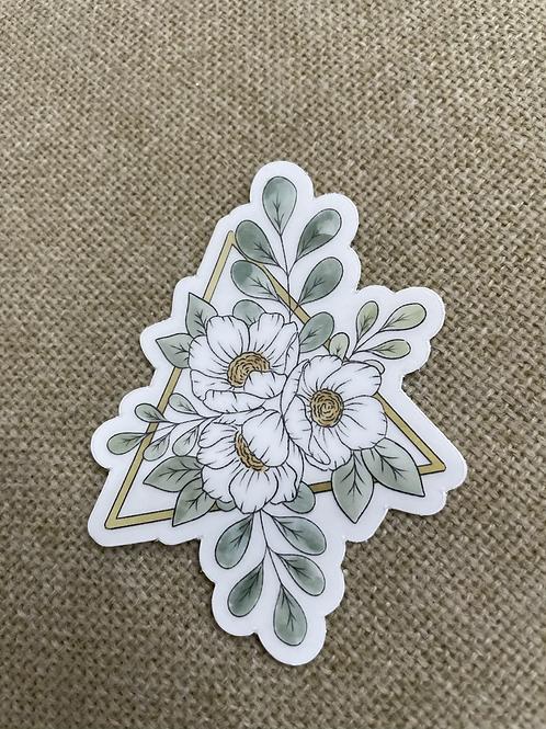 Daisy Triangle Sticker