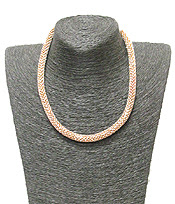 Elegant Rhinestone Tube Chain Necklace