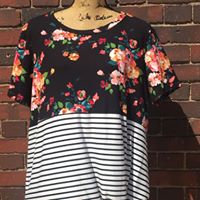 Stripe and Floral Tee
