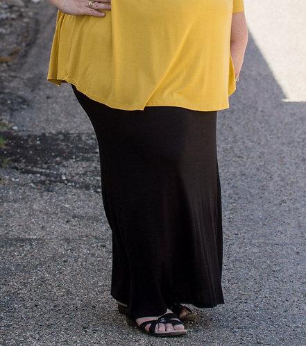 Basic Black Maxi Skirt