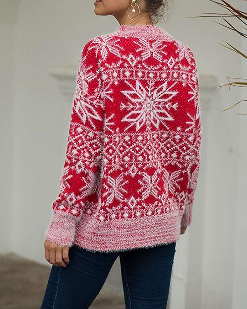 Fuzzy Snowflake Sweater
