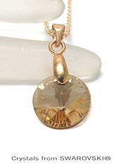 Simple Round Cut Swarovski Pendant Necklace